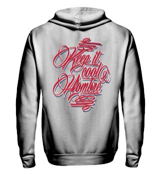 Herren Zip Hoodie Sweatshirt Keep it Cool Hombre Ramirez