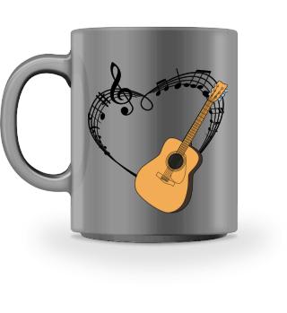 Gitarre Herz Für Klassische Gitarristen