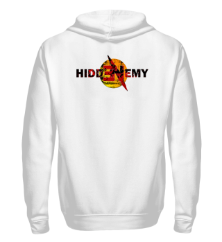 Hidden Enemy Bloody Cut Zipper Hoodie