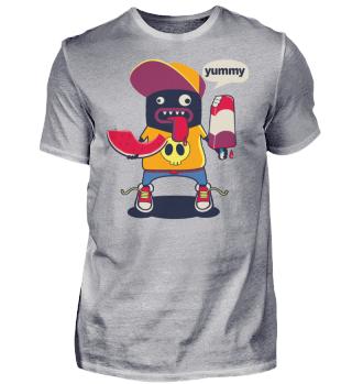 Herren Kurzarm T-Shirt Yummy Ramirez