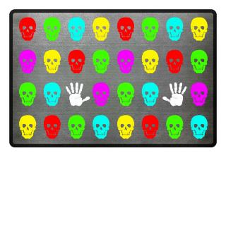 Totenkopf Gruppe Hand - Grelle Farben II