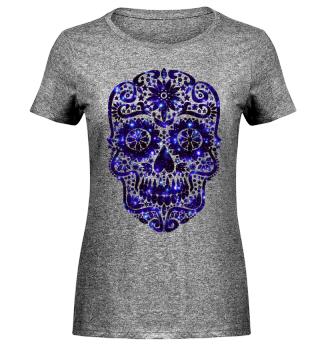 Gothic Stars Sugar Skull - galaxy