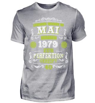 40. Geburtstag T-Shirt Legenden Mai 1969