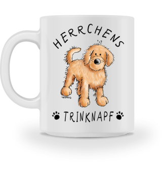 Herrchens Trinknapf Golden Doodle Tasse
