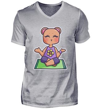 Yoga Bear Teddy Grizzly animal Meditatio