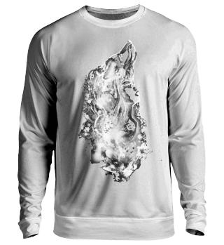 Sweatshirt Wolfsfrau White