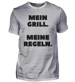 MEIN GRILL. MEINE REGELN. Schwarz
