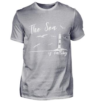 El mar llama Faro en el mar y gaviotas
