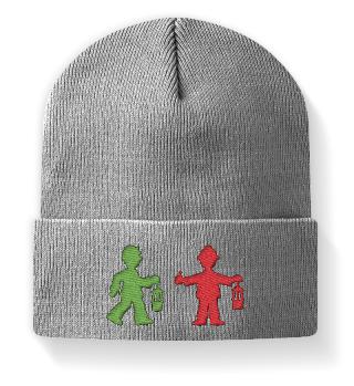 Mütze mit Stickerei – Bergmannsampel