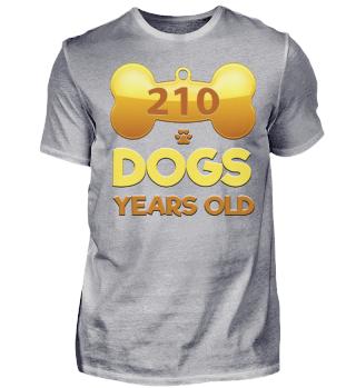 ANIMAL 210 DOG YEARS OLD T-SHIRT
