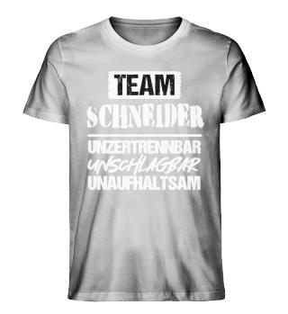 Team Familienname unzertrennbar...