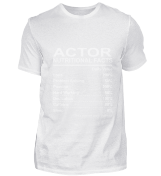 Actor Nutritional Facts