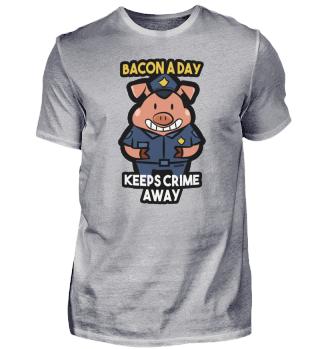 Schwein Polizei Sicherheit Geschenk