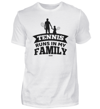 Tennis Family Daughter Father Training