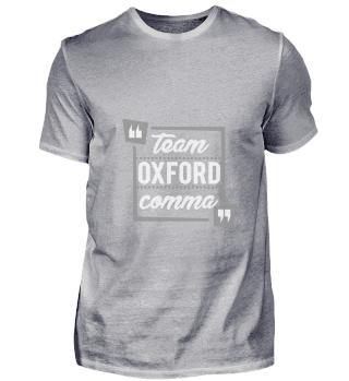 Funny Team Oxford Comma gift