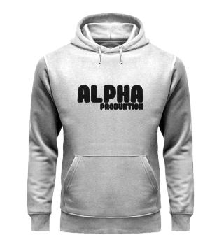 Weißer Alpha Hoodie