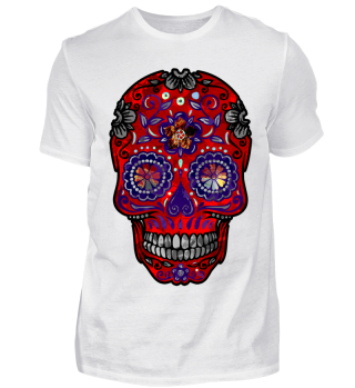 Funny Mexican Sugar Skull red