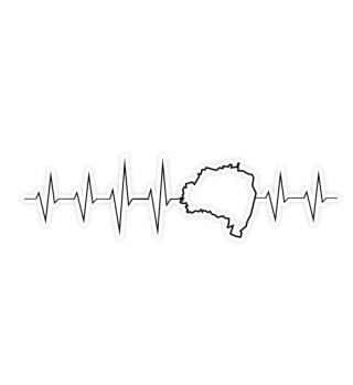 Oberlausitzer Herzschlag Aufkleber