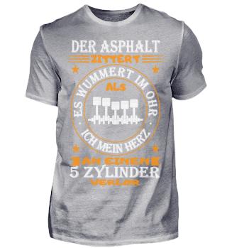 5 Zylinder Shirt-Asphalt