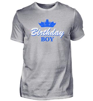 Birthday Boy Geburtstag Prinz Krone Fun
