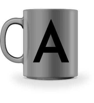 LettersCup Design Tasse mit Buchstabe A