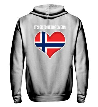 ITS OK TO BE NORDMENN| white #itsok