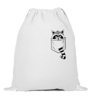 Waschbär in Tasche Raccoon in Pocket