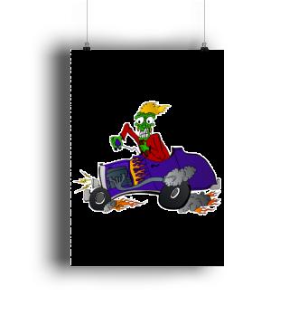 Hot Rod Racing Monster - VI - Poster
