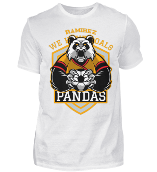 Herren Kurzarm T-Shirt Pandas Ramirez