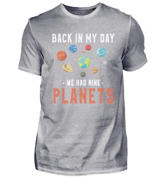 Astronaut & astronomy Nine Planet Gift