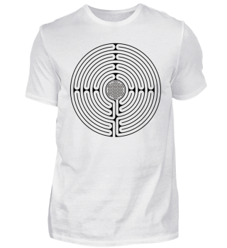Chartres Labyrinth Flower Of Life black