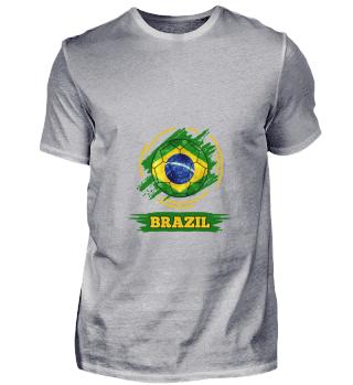 D003-0004 Country Flag Brazil / Brasilie
