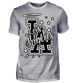 Herren Kurzarm T-Shirt Los Angeles BW Ramirez