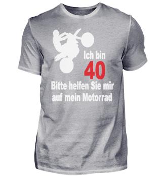 40. Geburtstag Biker Motorrad