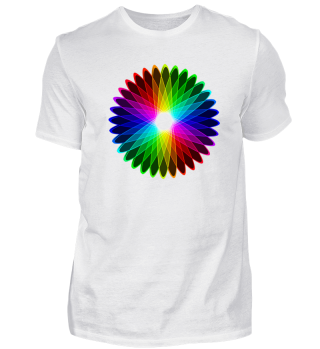 Premium Shirt Regenbogenblume