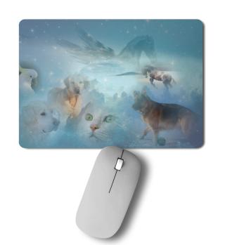 Mousepad mit vielen Tieren