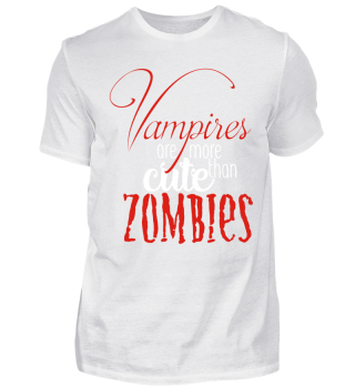 Cute Vampires VS Zombies - red white