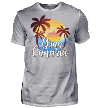 Gran Canaria T-Shirt Palmen