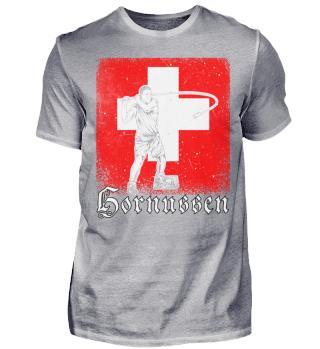 Schweiz Hornussen Schweizerfahne
