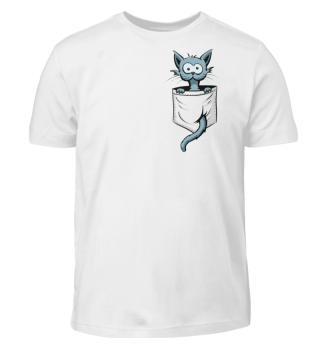 Crazy Katze in Tasche Kawaii Pocket-Cat