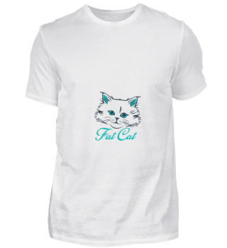 D004-0014 Cute Fat Cat / Katze
