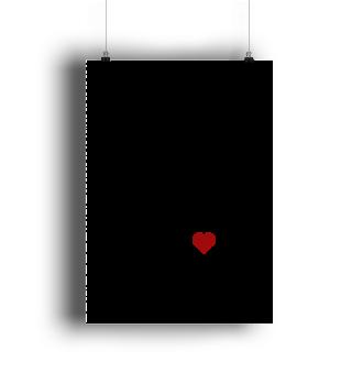 poster the essentials schwarze schrift