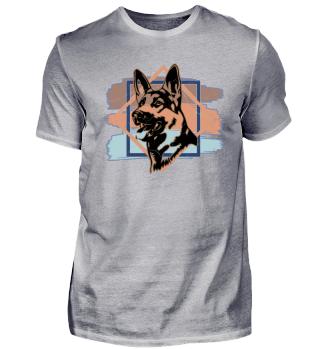 Schäferhund Tier Hund Geschenk Herrchen