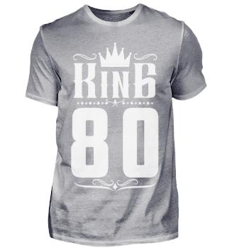80. Geburtstag 80 Jahre King König weiss