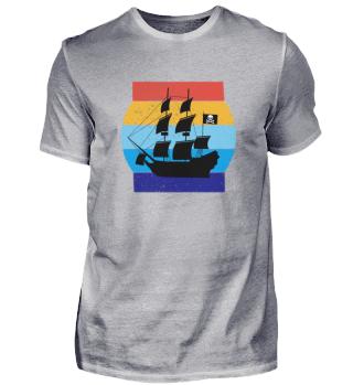 Schatten von Piratenschiff