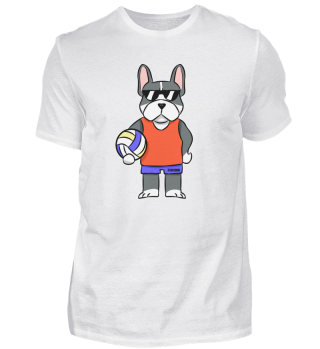 German boxer dog volleyball sports gift