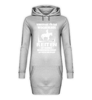 Pferd Hoodie Kleid - Wochenende Reiten