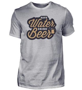 Wasser sparen Bier trinken