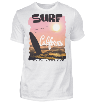 Herren Kurzarm T-Shirt California Surf