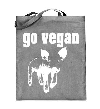 Tasche, go vegan, beidseitig bedruckt
